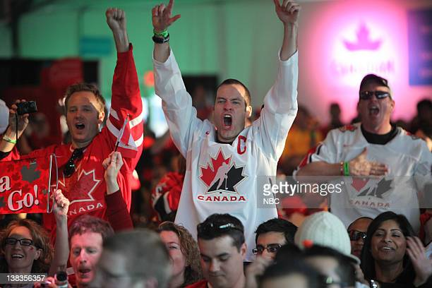 GAMES Live City Vancouver USA v Canada Hockey Game Pictured Canadian fans watch the Men's USA v Canada Hockey Game from Live City Vancouver