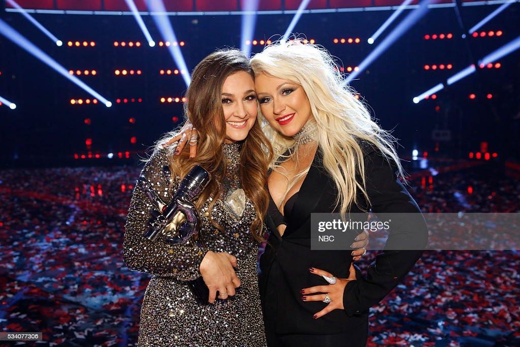 THE VOICE 'Live Finale' Episode 1018B Pictured Alisan Porter Christina Aguilera