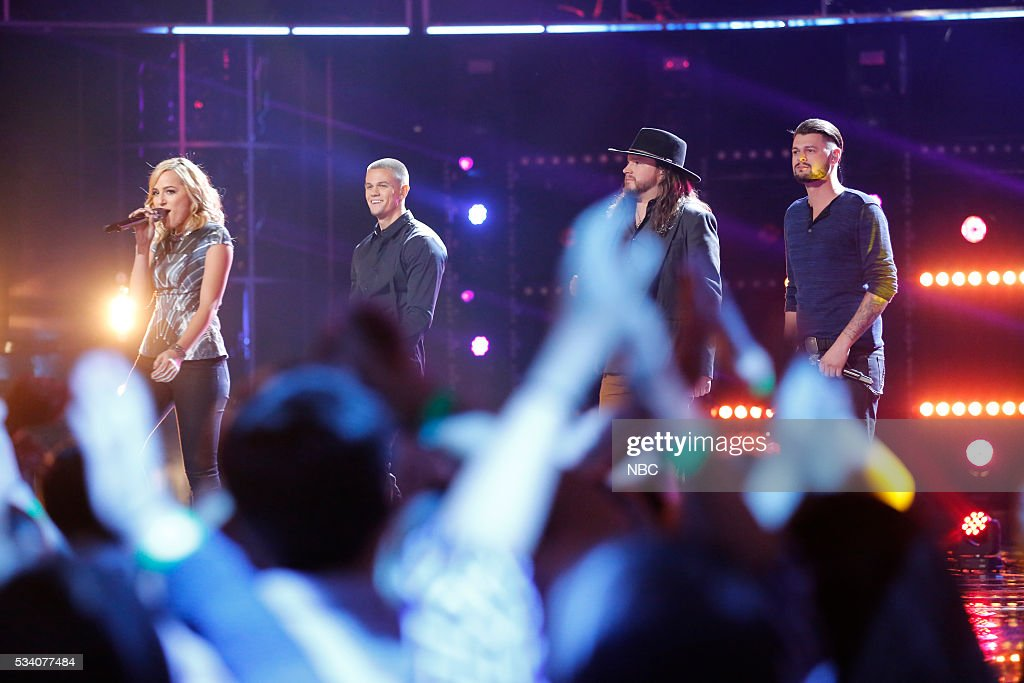 THE VOICE -- 'Live Finale' Episode: 1018B -- Pictured: (l-r) Mary Sarah, Nick Hagelin, Adam Wakefield, Justin Whisnant --