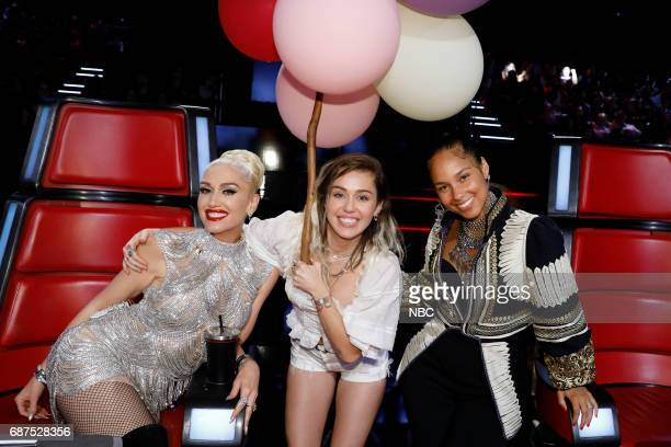 THE VOICE 'Live Finale' Episode 1219B Pictured Gwen Stefani Miley Cyrus Alicia Keys