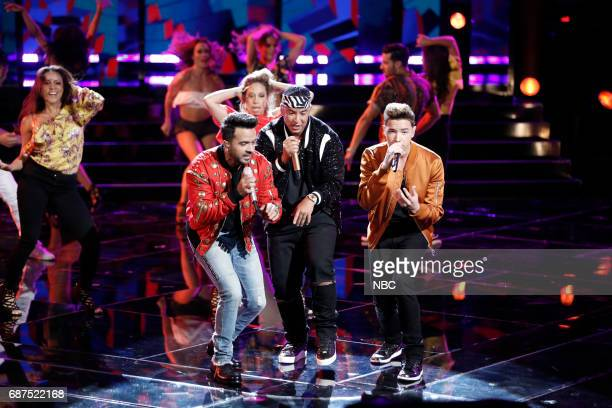 """THE VOICE 'Live Finale"""" Episode 1219B Pictured Luis Fonsi Daddy Yankee Mark Isaiah"""