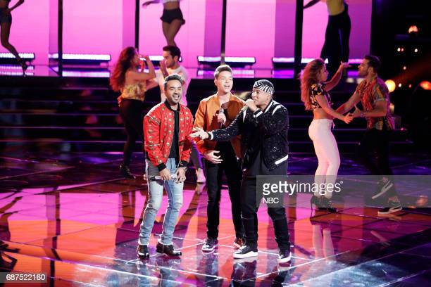"""THE VOICE 'Live Finale"""" Episode 1219B Pictured Luis Fonsi Mark Isaiah Daddy Yankee"""