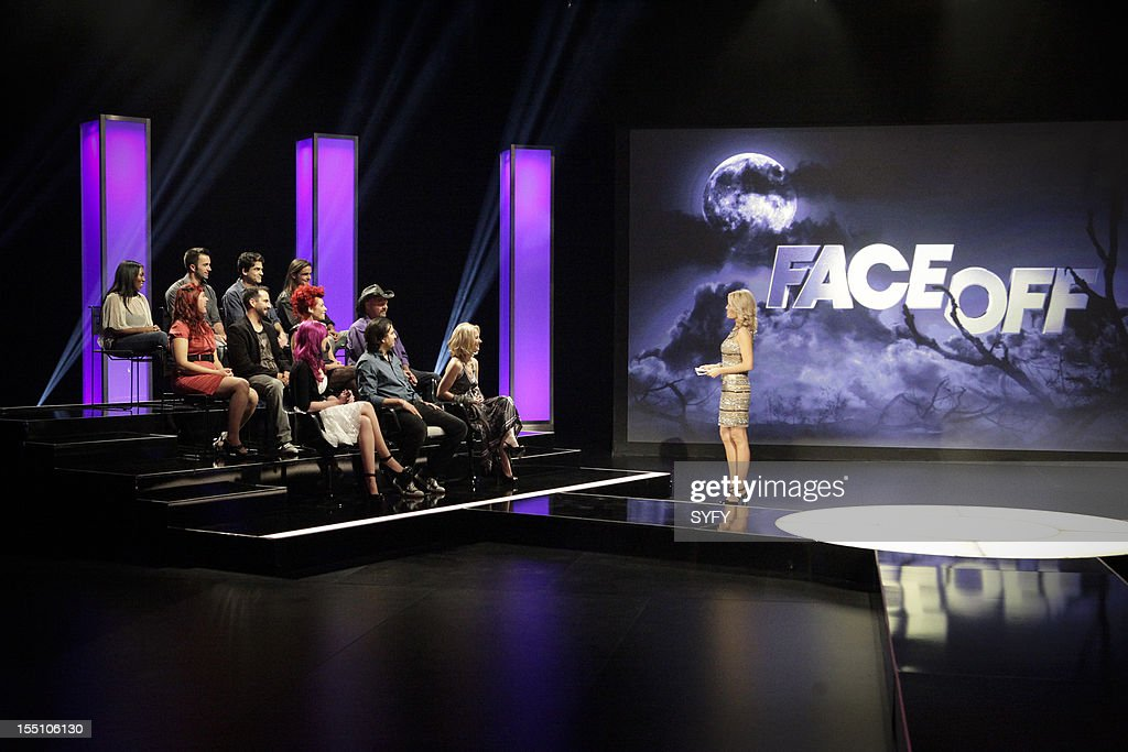 OFF -- 'Live Finale' Episode 312 -- Pictured: (top l-r) Contestants C.C. Childs, Jason Milani, Rod Maxwell, Tommy Pietch (middle l-r) Sarah, Eric, Alana Rose Schiro, Roy Wooley (bottom l-r) Nicole Chilelli, Derek Garcia, Laura Tyler, host McKenzie Westmore --