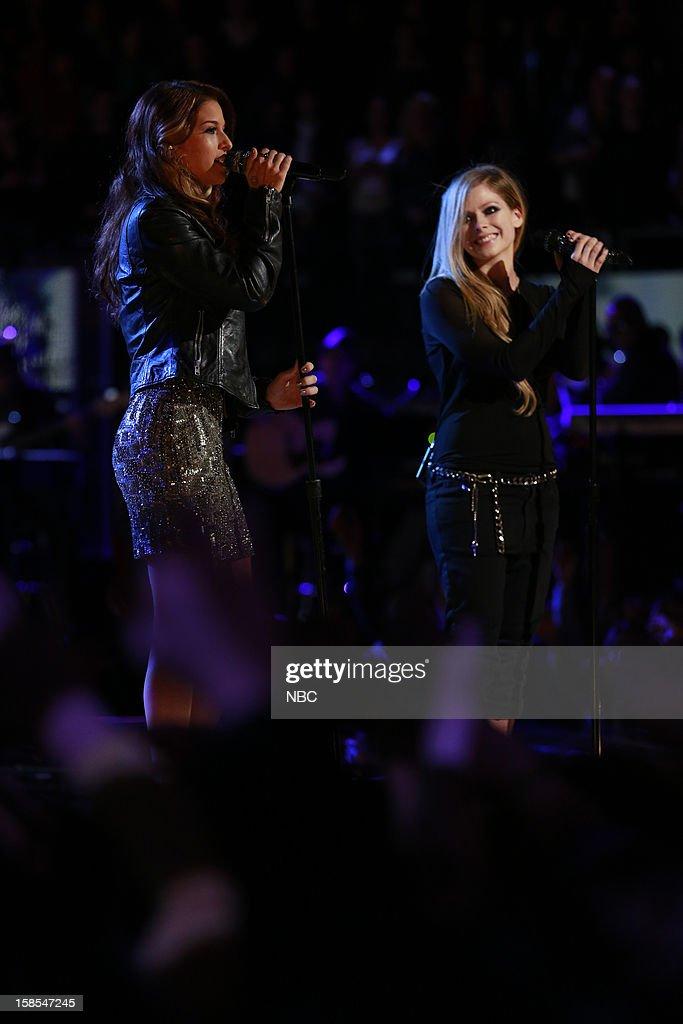 THE VOICE -- 'Live Finale' Episode 323B -- Pictured: (l-r) Cassadee Pope, Avril Lavigne --