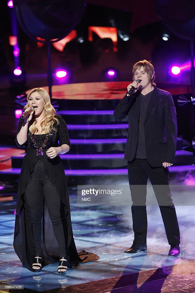 THE VOICE -- 'Live Finale' Episode 323B -- Pictured: (l-r) Kelly Clarkson, Terry McDermott --