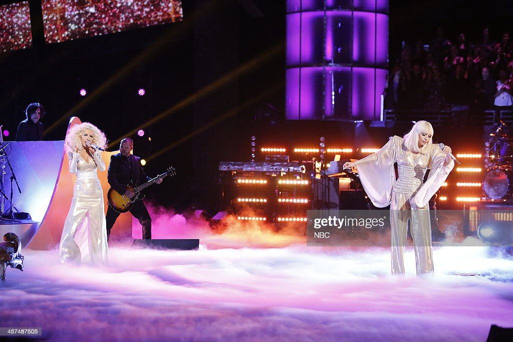 THE VOICE -- 'Live Finale' Episode 519B -- Pictured: (l-r) Christina Aguilera, Lady Gaga --