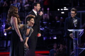 THE VOICE 'Live Finale' Episode 519B Pictured Jacquie Lee Tessanne Chin Carson Daly Will Champlin