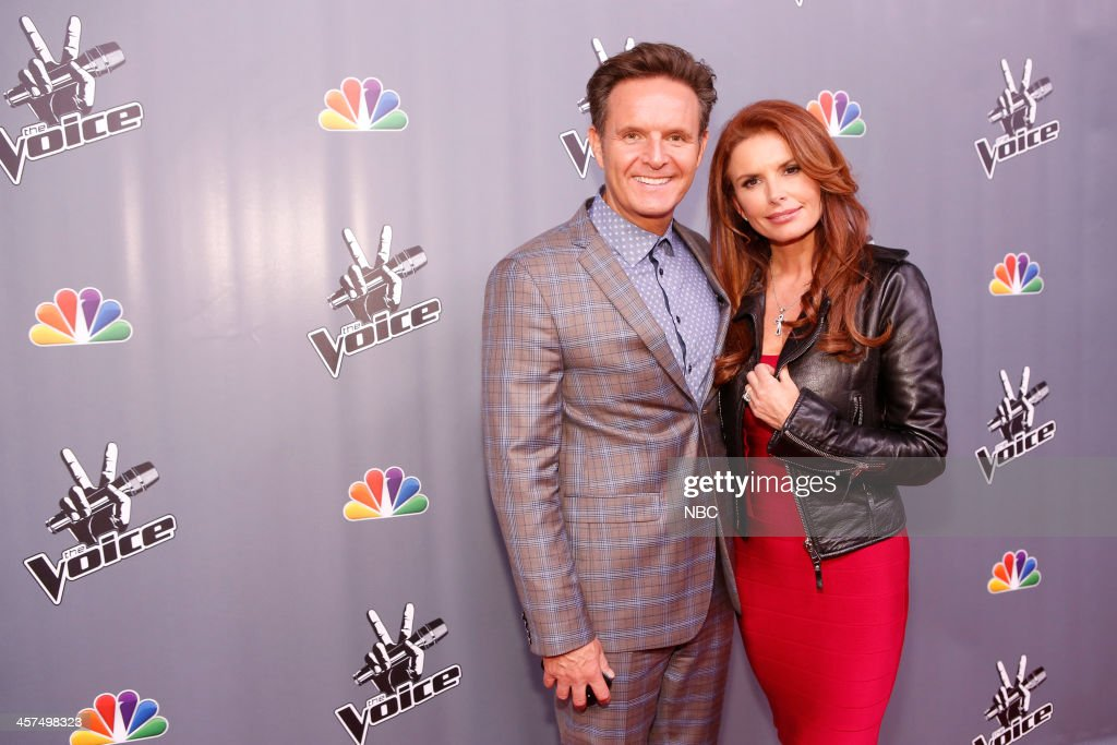 THE VOICE -- 'Live Finale' Episode 519B -- Pictured: (l-r) Mark Burnett, Roma Downey --