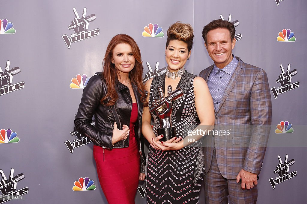 THE VOICE -- 'Live Finale' Episode 519B -- Pictured: (l-r) Roma Downey, Tessanne Chin, Mark Burnett --