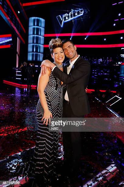 THE VOICE 'Live Finale' Episode 519B Pictured Tessanne Chin Adam Levine