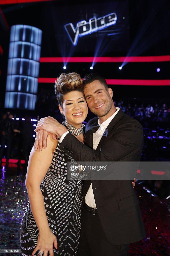 THE VOICE -- 'Live Finale' Episode 519B -- Pictured: (l-r) Tessanne Chin, Adam Levine --