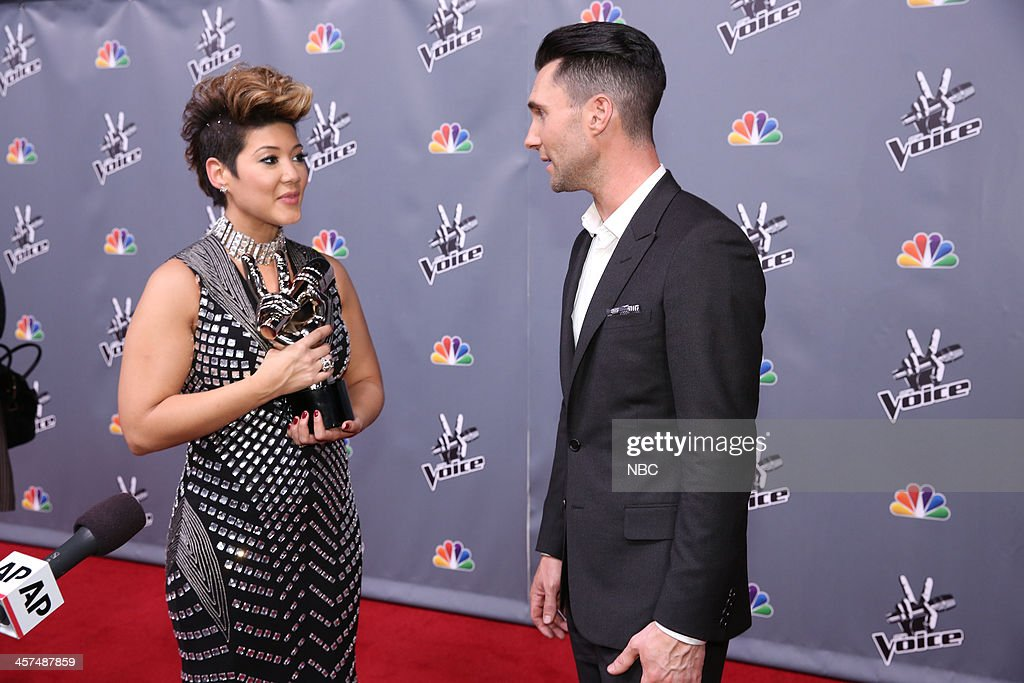 THE VOICE -- 'Live Finale' Episode 519B -- Pictured: (l-r) Tessanne Chin, Adam Levine --