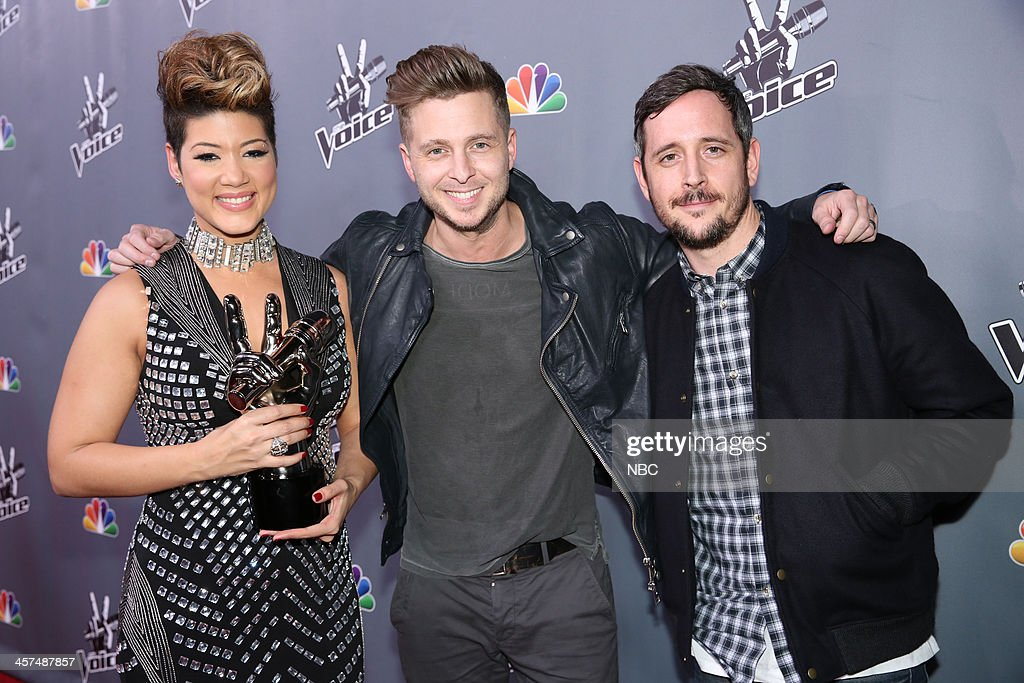 THE VOICE -- 'Live Finale' Episode 519B -- Pictured: (l-r) Tessanne Chin, Ryan Tedder of OneRepublic, Noel Zancanella --
