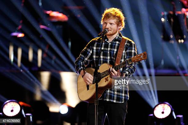 THE VOICE 'Live Finale' Episode 818B Pictured Ed Sheeran