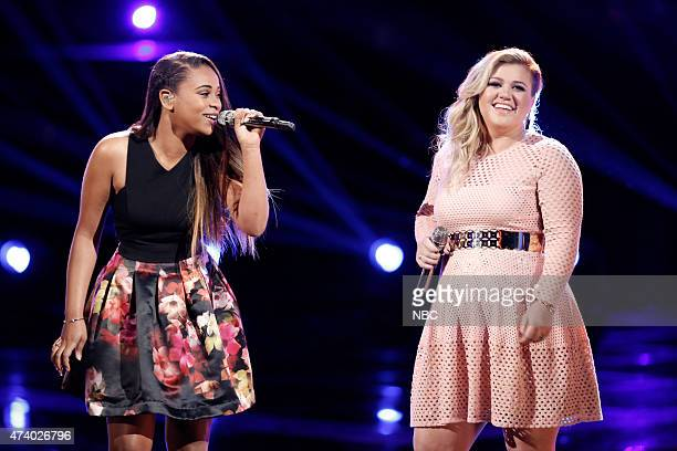 THE VOICE 'Live Finale' Episode 818B Pictured Koryn Hawthorne Kelly Clarkson
