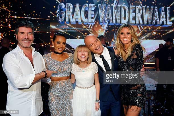 S GOT TALENT 'Live Finale Results' Episode 1123 Pictured Simon Cowell Mel B Grace VanderWaal Howie Mandel Heidi Klum