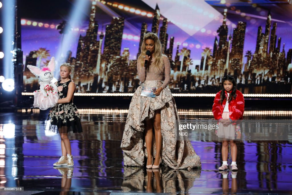 S GOT TALENT -- 'Live Finale Results' Episode 1224 -- Pictured: (l-r) Darci Lynne, Tyra Banks, Angelica Hale --