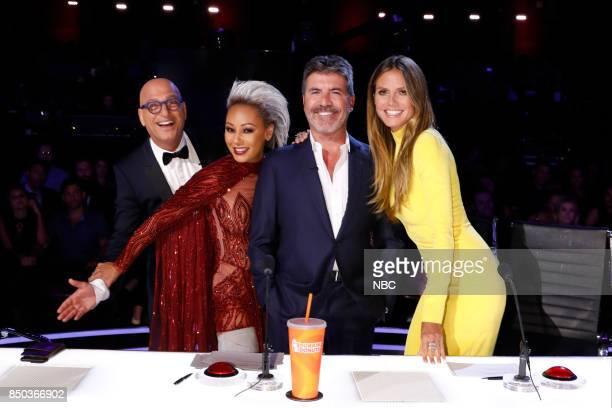 S GOT TALENT 'Live Finale Results' Episode 1224 Pictured Howie Mandell Mel B Simon Cowell Heidi Klum