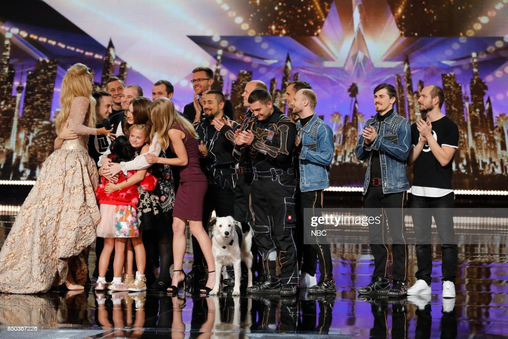 S GOT TALENT -- 'Live Finale Results' Episode 1224 -- Pictured: (l-r) Tyra Banks, Angelica Hale, Darci Lynne, Sara and Hero, Light Balance --
