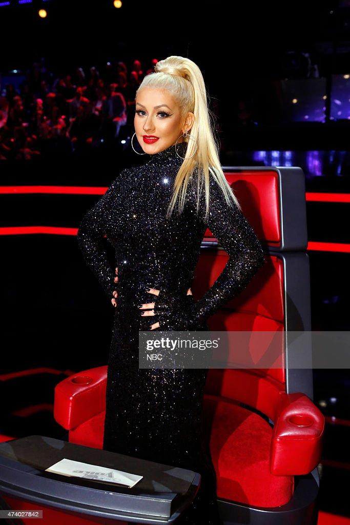 THE VOICE 'Live Finals' Episode 818B Pictured Christina Aguilera