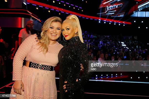 THE VOICE 'Live Finals' Episode 818B Pictured Kelly Clarkson Christina Aguilera
