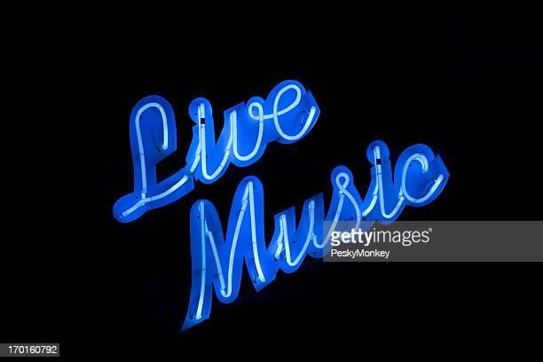 Musique Live néon fond noir