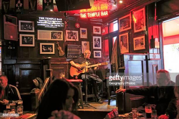 Live music performance inside the Temple Bar pub Dublin city center Ireland Republic of Ireland