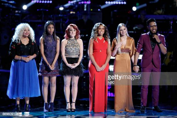 THE VOICE 'Live Playoffs' Episode 1214A Pictured Aaliyah Rose Aliyah Moulden Casi Joy Felicia Temple Lauren Duski TSoul