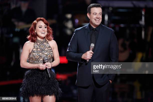 THE VOICE 'Live Playoffs' Episode 1214A Pictured Casi Joy Carson Daly