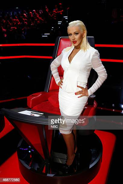 THE VOICE 'Live Playoffs' Episode 812B Pictured Christina Aguilera
