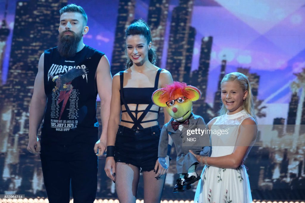S GOT TALENT -- 'Live Results 1' Episode 1214 -- Pictured: (l-r) Billy & Emily England, Darci Lynne --