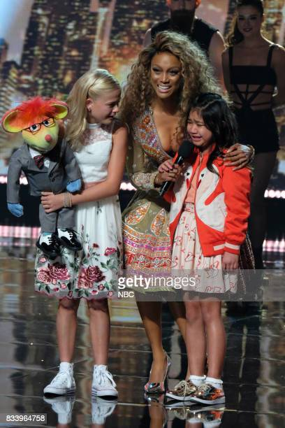 S GOT TALENT 'Live Results 1' Episode 1214 Pictured Darci Lynne Tyra Banks Angelica Hale