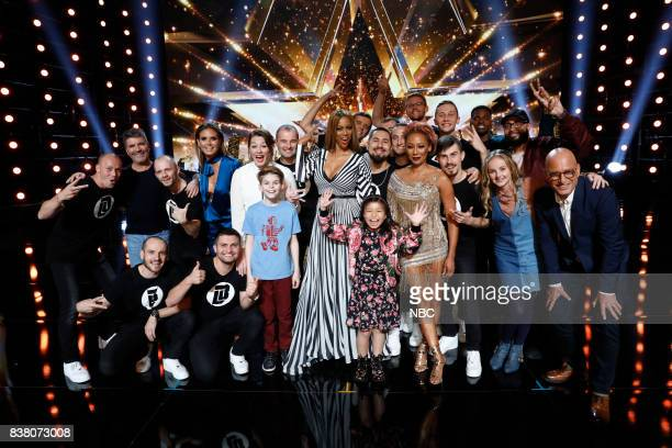 S GOT TALENT 'Live Results 2' Pictured Light Balance Heidi Klum Mandy Harvey Merrick Hanna Tyra Banks Celine Tam Mel B Johnny Manuel Evie Clair Eric...