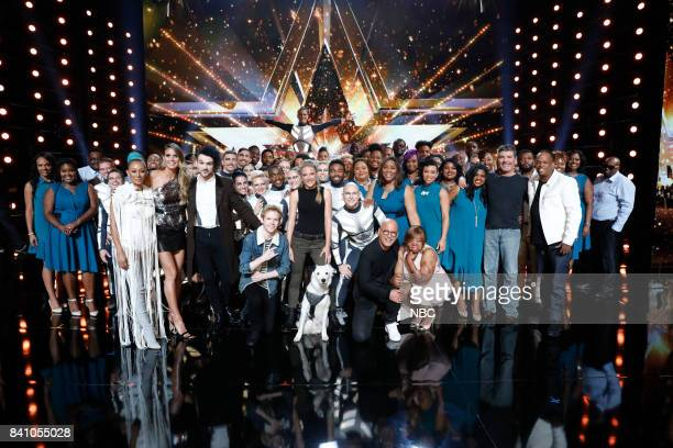 S GOT TALENT 'Live Results 4' Pictured DaNell Daymon Greater Works Mel B Heidi Klum Colin Cloud Diavolo Chase Goehring Sara and Hero Howie Mandel...