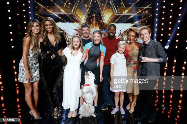 S GOT TALENT 'Live Results 4' Pictured Heidi Klum Tyra Banks Evie Clair Simon Cowell Sara and Hero Preacher Lawson Darci Lynne Mel B Chase Goehring
