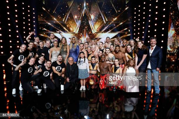 S GOT TALENT 'Live Results 5' Episode 1222 Pictured Light Balance Mel B Heidi Klum Howie Mandel Tyra Banks Angelica Hale Diavolo Kechi Mandy Harvey...