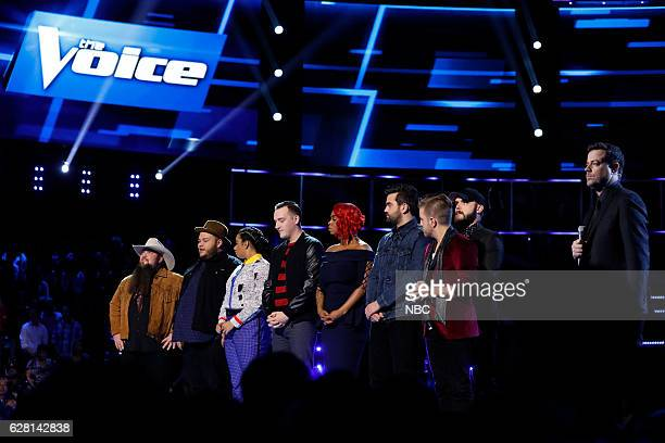 THE VOICE 'Live Semi Finals' Episode 1117B Pictured Sundance Head Christian Cuevas We McDonald Aaron Gibson Ali Caldwell Brendan Fletcher Billy...