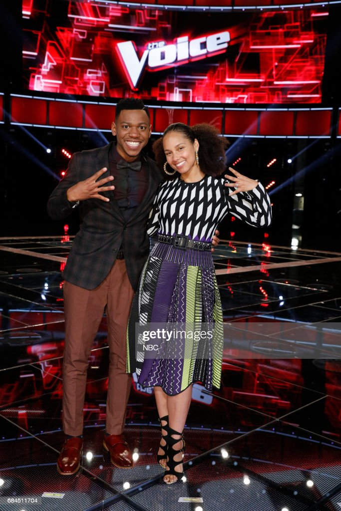 THE VOICE -- 'Live Semi Finals' Episode: 1218B -- Pictured: (l-r) Chris Blue, Alicia Keys --
