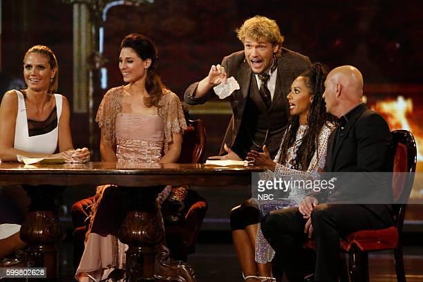 S GOT TALENT 'Live SemiFinals 2' Episode 1120 Pictured Heidi Klum The Clairvoyants Mel B Howie Mandel