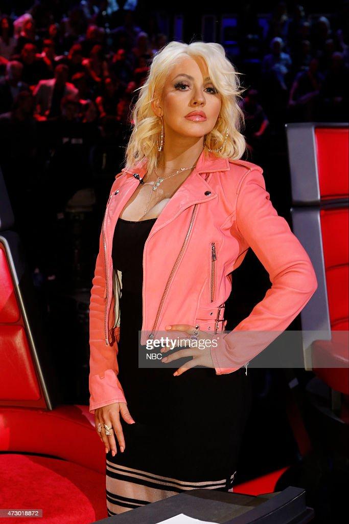 THE VOICE 'Live Semis' Episode 817A Pictured Christina Aguilera