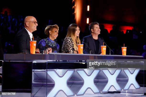 S GOT TALENT 'Live Show 1' Pictured Howie Mandel Mel B Heidi Klum Simon Cowell