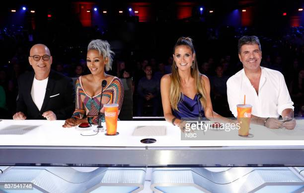 S GOT TALENT 'Live Show 2' Pictured Howie Mandel Mel B Heidi Klum Simon Cowell