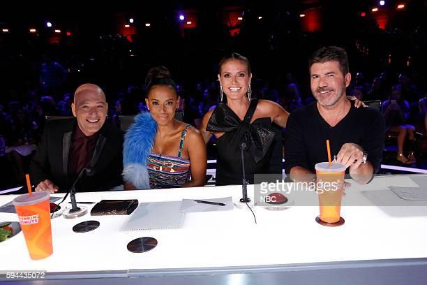 S GOT TALENT 'Live Show 3' Episode 1116 Pictured Howie Mandel Mel B Heidi Klum Simon Cowell