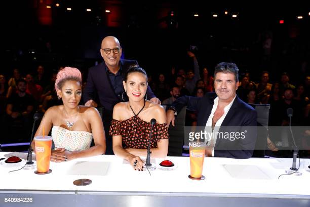 S GOT TALENT 'Live Show 3' Pictured Mel B Howie Mandel Heidi Klum Simon Cowell