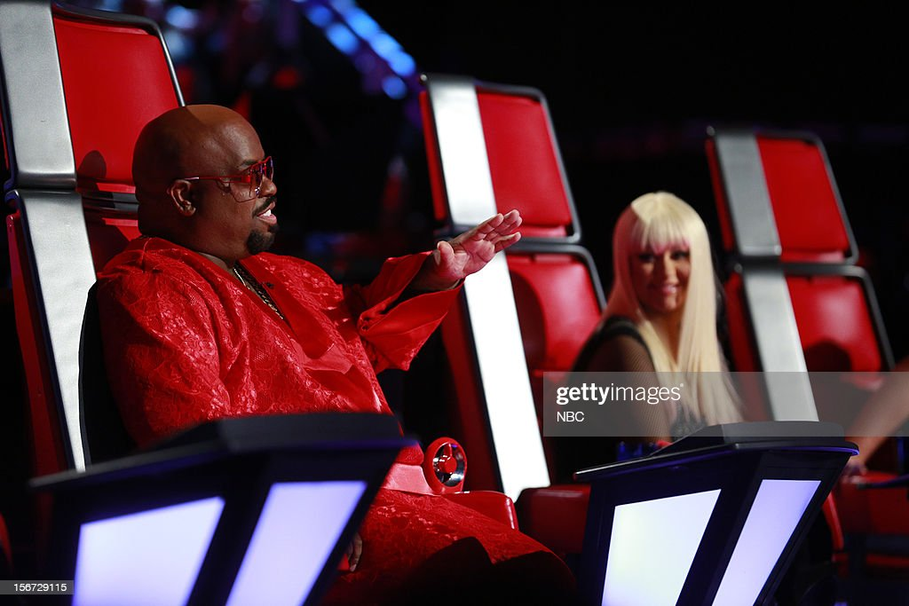 THE VOICE -- 'Live Show' Episode 319A -- Pictured: (l-r) CeeLo Green, Christina Aguilera --