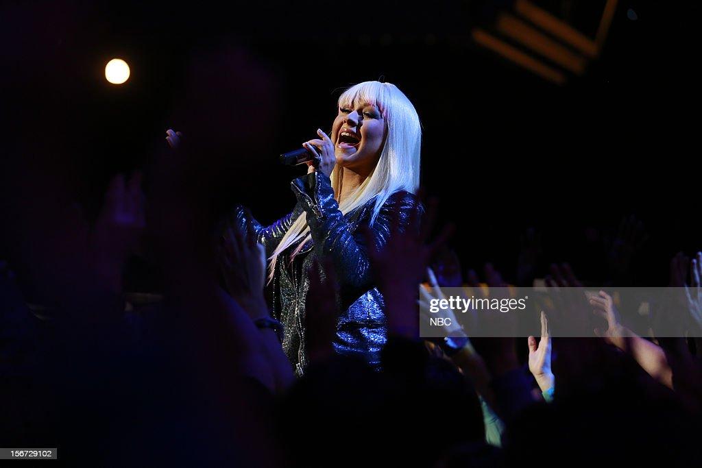 THE VOICE -- 'Live Show' Episode 319A -- Pictured: Christina Aguilera --