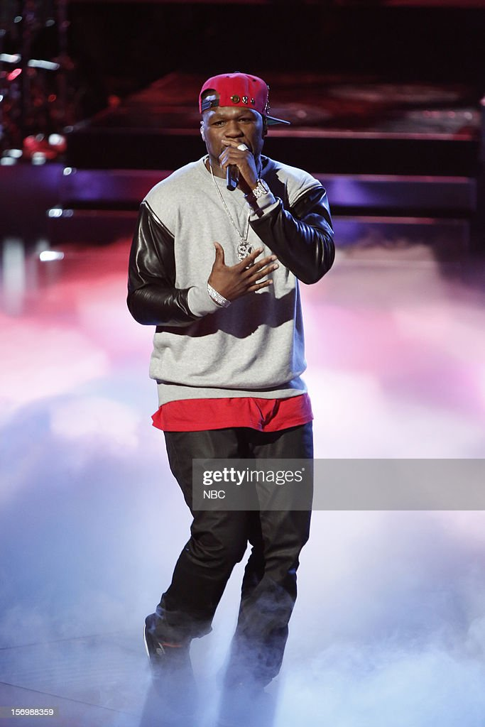 THE VOICE -- 'Live Show' Episode 320A -- Pictured: <a gi-track='captionPersonalityLinkClicked' href=/galleries/search?phrase=50+Cent+-+Rapper&family=editorial&specificpeople=215363 ng-click='$event.stopPropagation()'>50 Cent</a> --