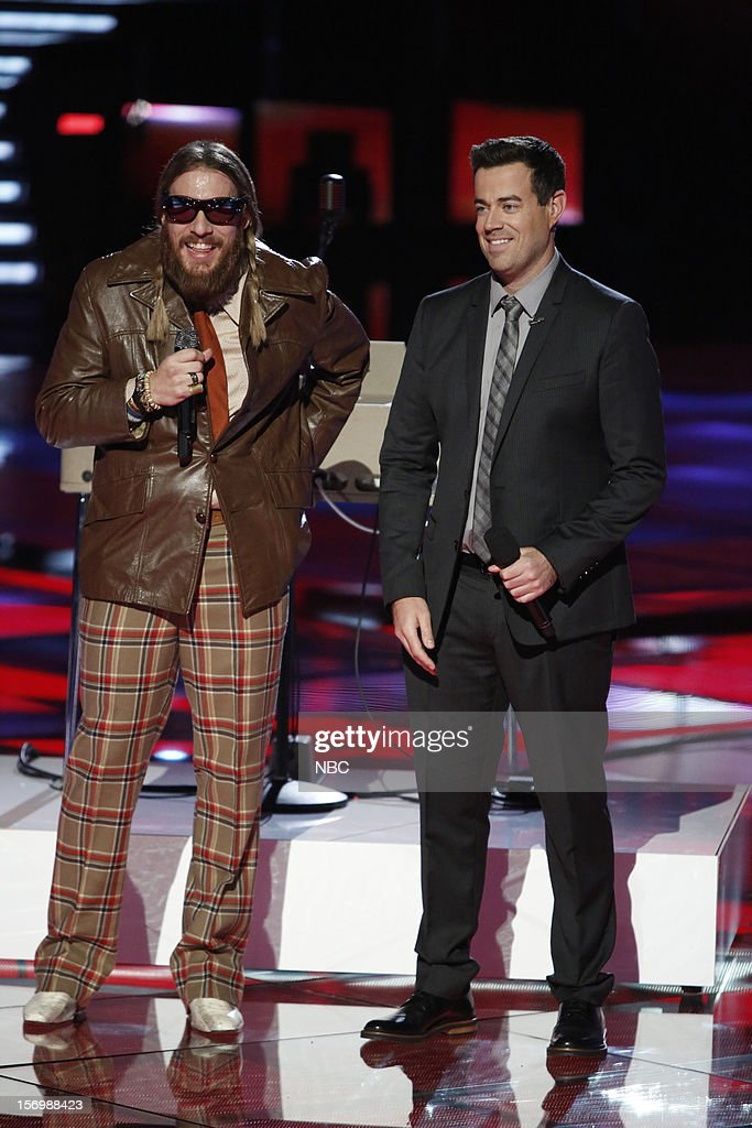 THE VOICE -- 'Live Show' Episode 320A -- Pictured: (l-r) Nicholas David , Carson Daly --