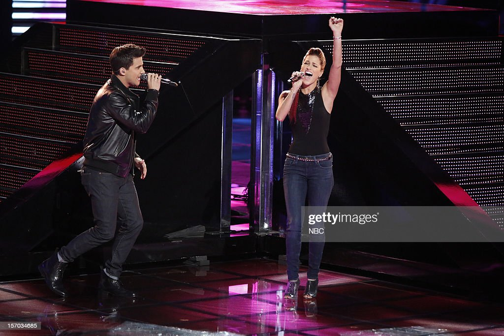 THE VOICE -- 'Live Show' Episode 320B -- Pictured: (l-r) Dez Duron, Cassadee Pope --