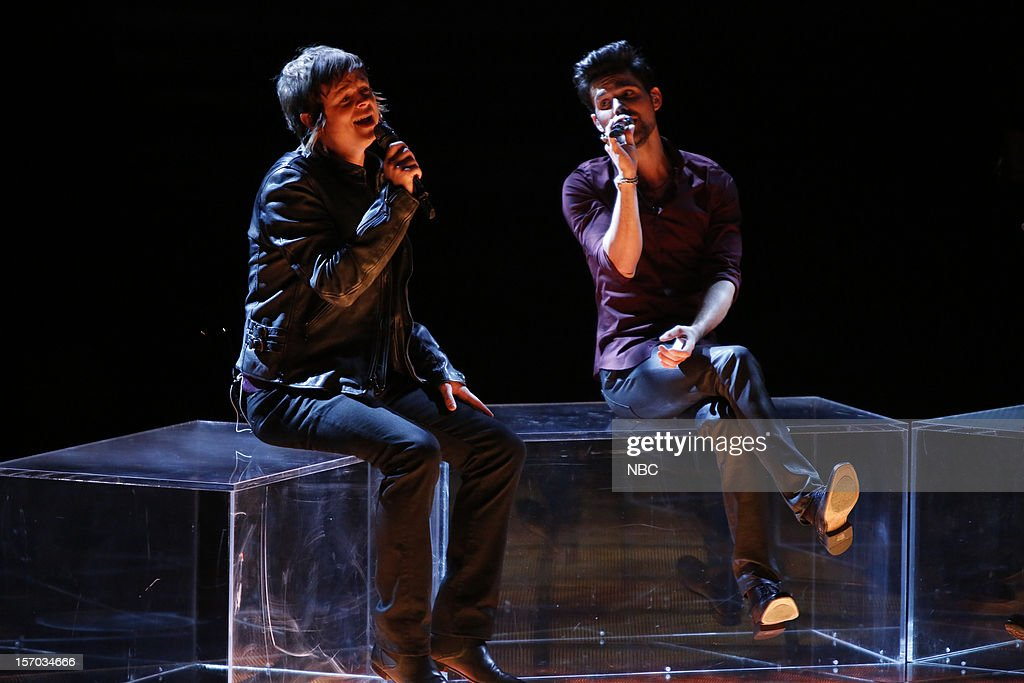 THE VOICE -- 'Live Show' Episode 320B -- Pictured: (l-r) Tyler McDermott, Cody Belew --